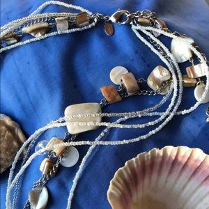 Chico's Mother-of-Pearl Necklace